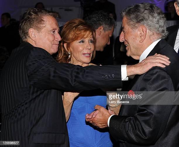 Regis Philbin Joy Philbin and Tony Bennett attend Tony Bennett's 85th Birthday Gala Benefit for Exploring the Arts at The Metropolitan Opera House on...