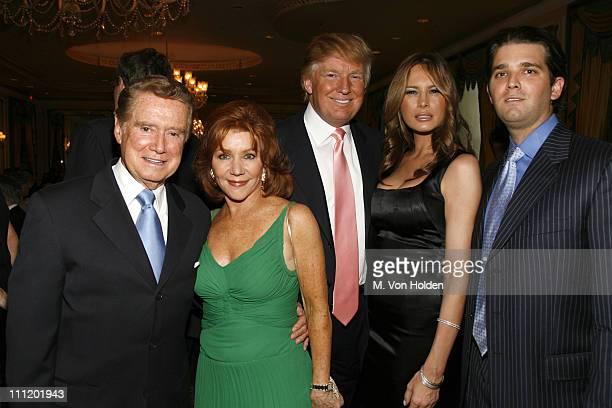 Regis Philbin Joy Philbin Donald Trump Melania Trump and son Donald Trump Jr