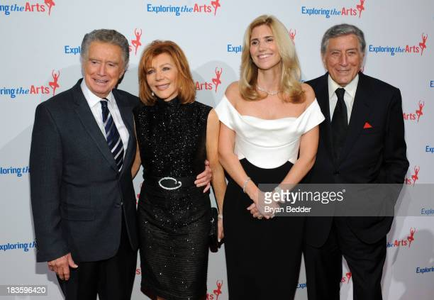 Regis Philbin Joy Philbin Susan Benedetto and Tony Bennett attend 'Exploring the Arts Gala' to support arts education in public high schools at...