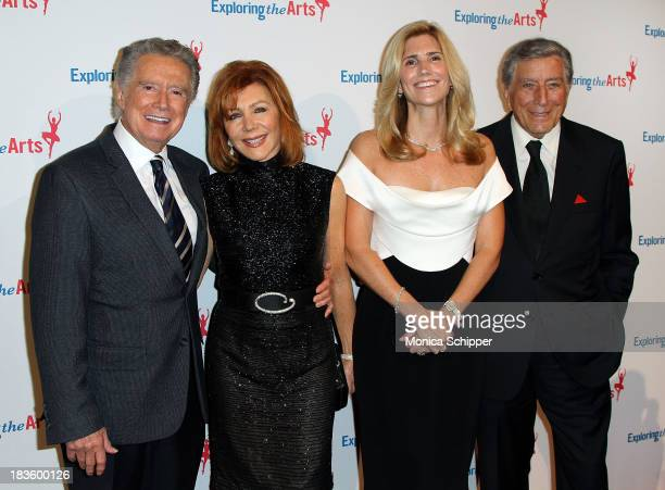 Regis Philbin Joy Philbin Susan Benedetto and Tony Bennett attend the 7th annual Exploring the Arts gala at Cipriani Wall Street on October 7 2013 in...