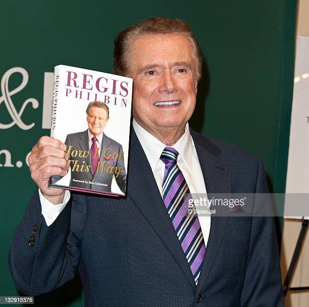 """Regis Philbin promotes """"How I Got This Way"""" at the Barnes & Noble, 5th Avenue on November 15, 2011 in New York City."""
