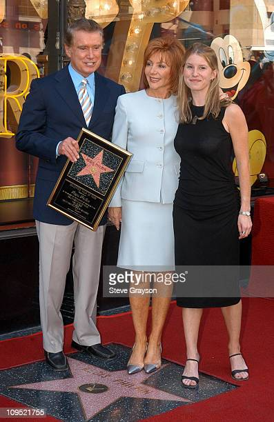 Regis Philbin wife Joy Philbin and daughter during Regis Philbin Honored with a Star on the Hollywood Walk of Fame for His Achievements in Television...