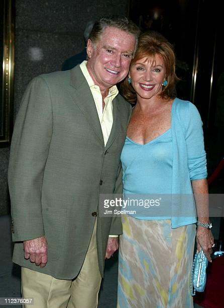 Regis Philbin wife Joy Philbin during The Sopranos 4th Season Premiere at Radio City Music Hall in New York City New York United States