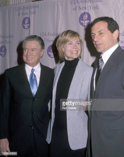 Regis Philbin Willow Bay and Robert Iger during UJA Federation of Cable Video Luncheon Honoring Bob Iger at Waldorf Astoria in New York City New York...
