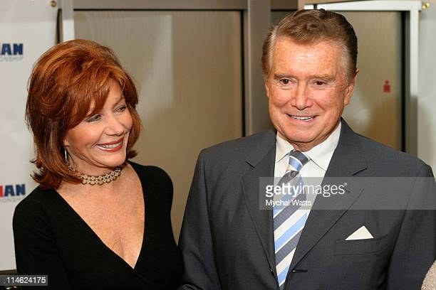 Regis Philbin with his wife Joy Philbin during Celebrity Hair Colorist and Ironman Triathlete Louis Licari with VIP Clientele Pedaling to Support...