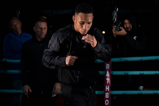 Regis Prograis during a Media Workout at Rathbone Boxing Club ahead of his unification world title fight with Josh Taylor on October 17, 2019 in...