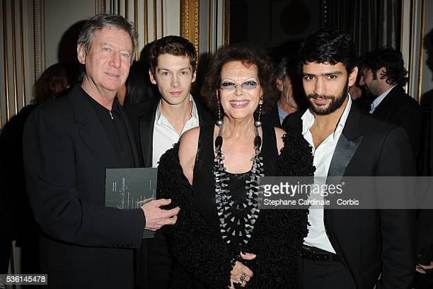 Regis Wargnier Cyril Descours Claudia Cardinale and Salim Kechiouche attends the Chaumet's Cocktail Party and Dinner for Cesar's Revelations 2011 in...