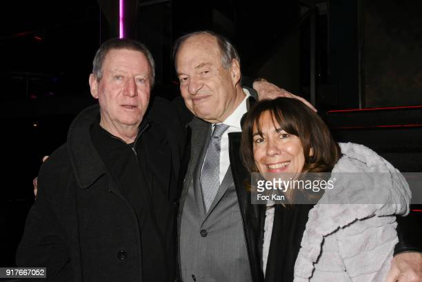 Regis Wargnier former CSA president Michel Boyon and his guest attend the 23 eme Ceremonie des Lauriers de La Radio et de La Television at Palace...