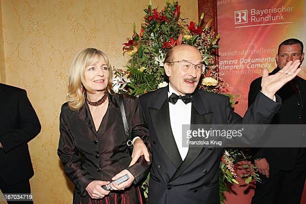 Regisseur Volker Schlöndorff Und Ehefrau Angelika Bei Der Verleihung Des Bayerischen Filmpreis Im Prinzregententheater In München Am 140105