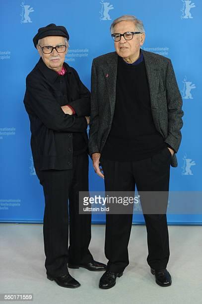 Regisseure Paolo und Vittorio Taviani während des Photocalls zum Film CESARE DEVE MORIRE/CEASAR MUST DIE anlässlich der 62 Internationalen...