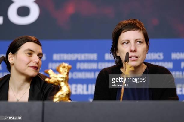 Regisseurin Adina Pintilie mit dem Goldenen Bären für den Besten Film anlässlich der Preisverleihung der 68 Internationalen Filmfestspiele Berlin