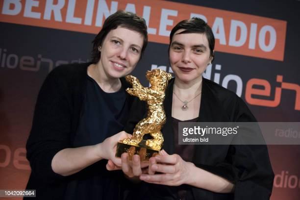 Regisseurin Adina Pintilie und Produzentin Bianca Oana beim RadioEins BerlinaleNighttalk aus der XXLounge anlässlich der 68 Internationalen...