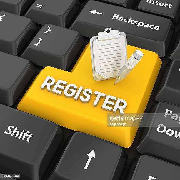 register enter key - register stock photos and pictures