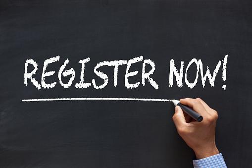 Register Now Concept 1128916464