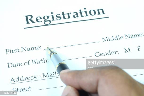 registration form - human body part stock pictures, royalty-free photos & images