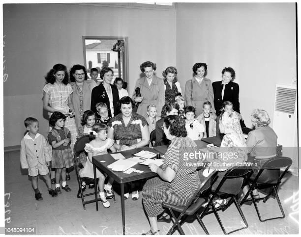 Registration in kindergarten 11 September 1951 Katie McLean 4 1/2 yearsMrs Patricia McLeanFrances Sanceri 9 yearsMrs LC SalesMrs Irene DunnDennis...