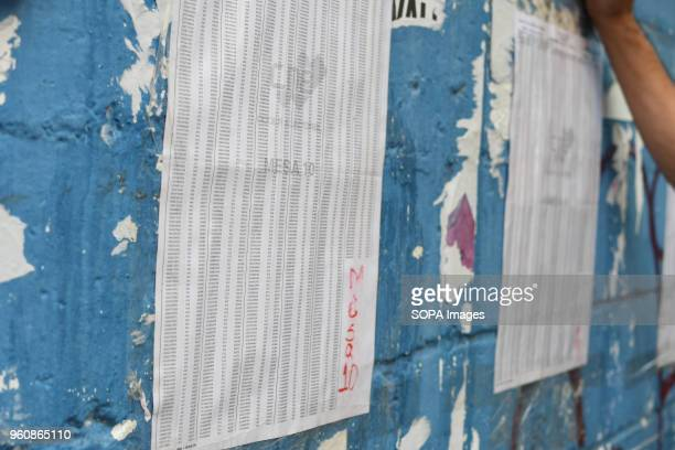 PETARE CARACAS MIRANDA VENEZUELA A registration list seen as people wait for their turn to vote at a polling station The presidential elections...