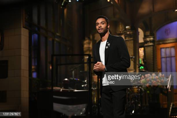 """Regé-Jean Page"""" Episode 1798 -- Pictured: Host Regé-Jean Page during the Monologue on Saturday, February 20, 2021 --"""