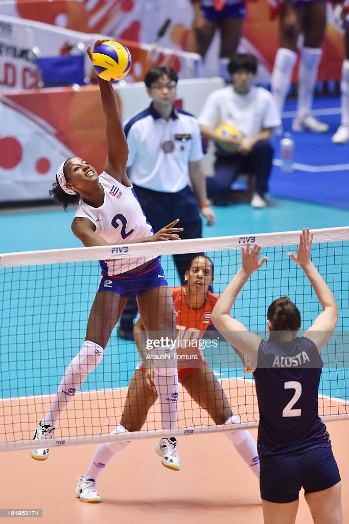 Argentina v Cuba - FIVB Women's Volleyball World Cup Japan 2015 : ニュース写真