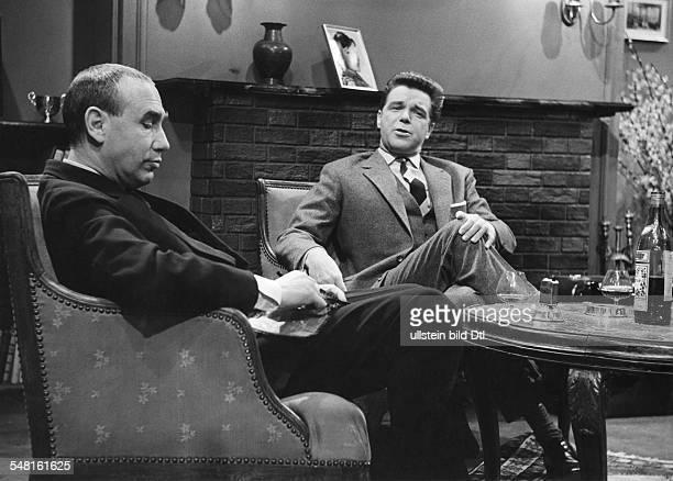 Regnier Charles * Schauspieler Regisseur D mit Heinz Drache in dem Film 'Bei AnrufMord' nach Alfred Hitchcock 1959