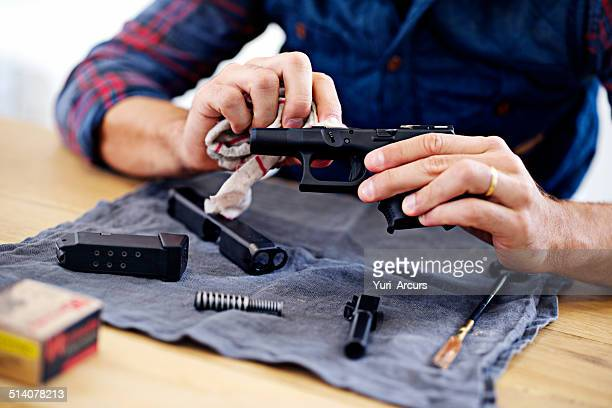 regular maintenance is essential for every gun owner - weaponry stock pictures, royalty-free photos & images