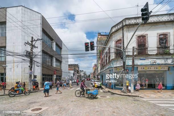 vista da rua regular de manaus - manaus - fotografias e filmes do acervo