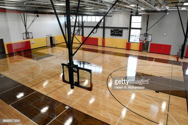 DENVER CO NOVEMBER 29 A regulation size basketball court with 6 baskets that can go up and down for kids and adults is one of the many amenities at...
