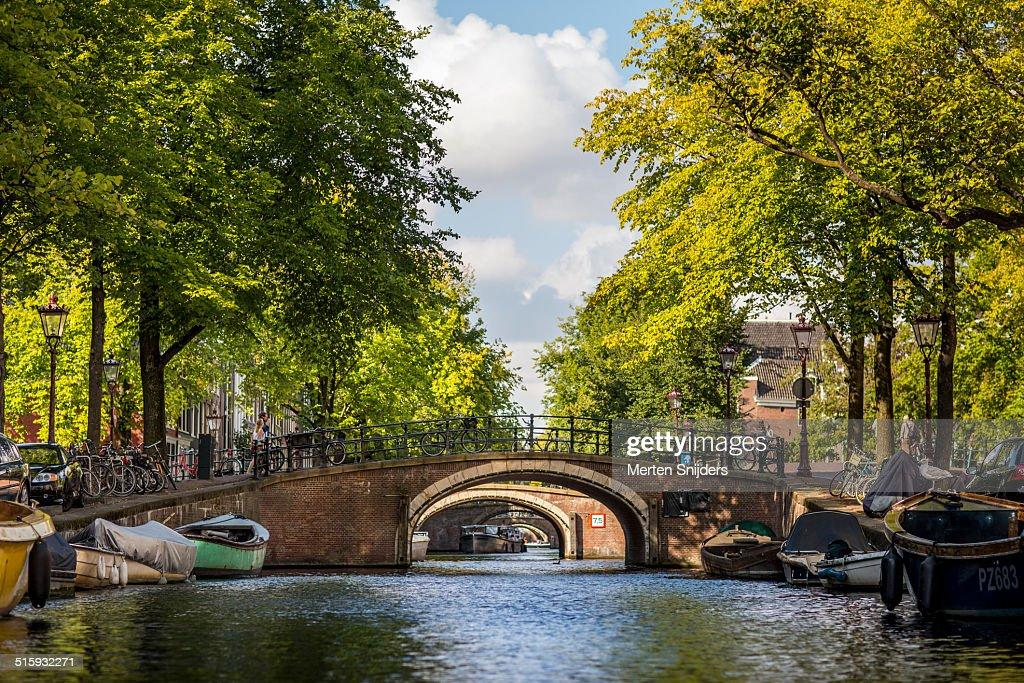 Reguliersgracht famous for the seven bridges : Stockfoto