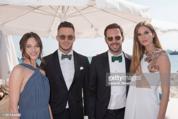 Regvita Dzemido André Lotterer JeanEric Vergne and Lorene Renard attend a cocktail party hosted by Alejandro Agag ahead of the World Premiere of the...