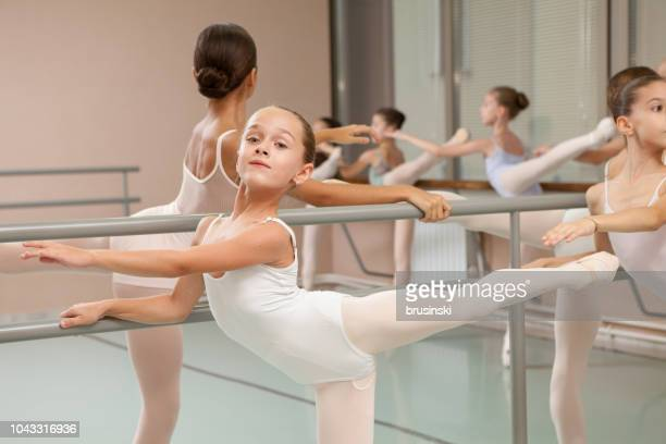 rehearsal in children's ballet studio