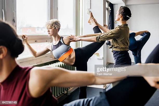 Rehearsal of a dancing class