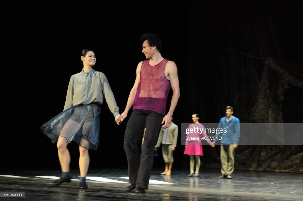 Rehearsal Of Ballet Appartement From Mats Ek Choregraphy By