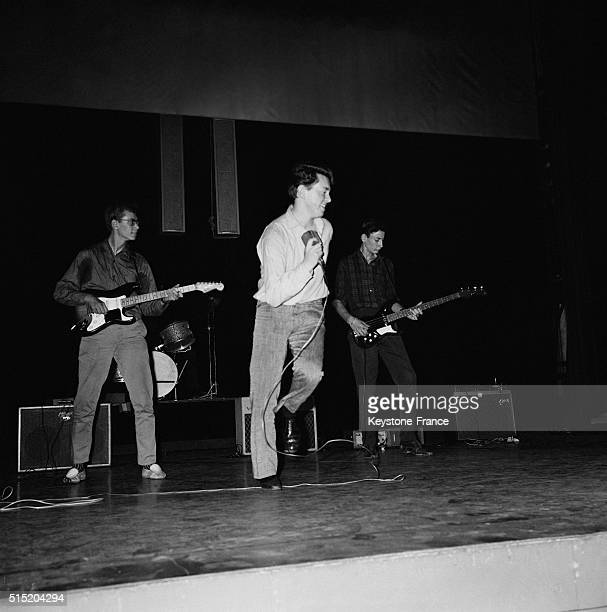 Rehearsal Of French Singer Billy Bridge aka The King Of Madison At the Olympia Music Hall in Paris France on August 29 1962