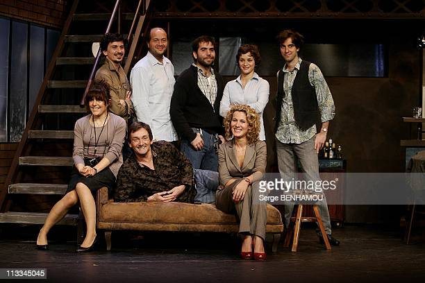 Rehearsal Of 'Le Comique' With Pierre Palmade At The Theatre Fontaine In Paris France On October 07 2008 AnneElisabeth Blateau Pierre Palmade Noemie...