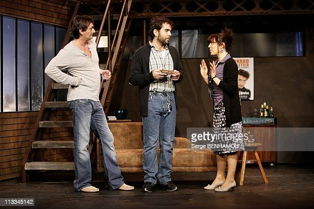 Rehearsal Of 'Le Comique' With Pierre Palmade At The Theatre Fontaine In Paris France On October 07 2008 Pierre Palmade Sebastien Castro...