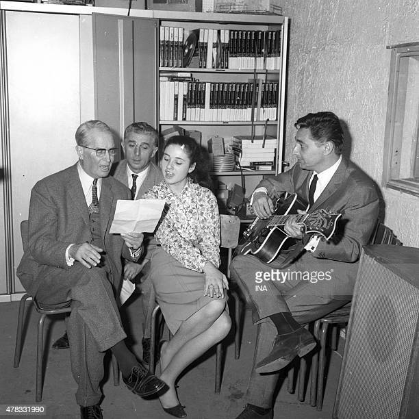 Rehearsal of the duet Maurice Chevalier and Gigliola Cinquetti