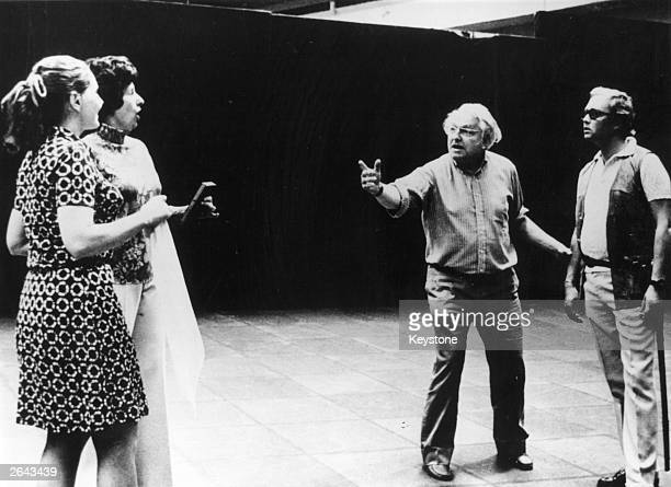 A rehearsal of the first scene of the Wagner Festival at Bayreuth which is being opened by the Master Singers of Nuremberg Left to right Hannelore...