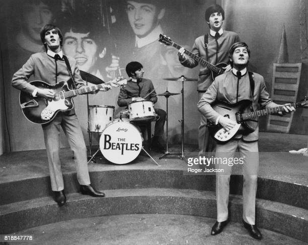 A rehearsal of the musical play 'John Paul George Ringo and Bert' by Willy Russell which tells a fictionalised life story of the Beatles at the Lyric...
