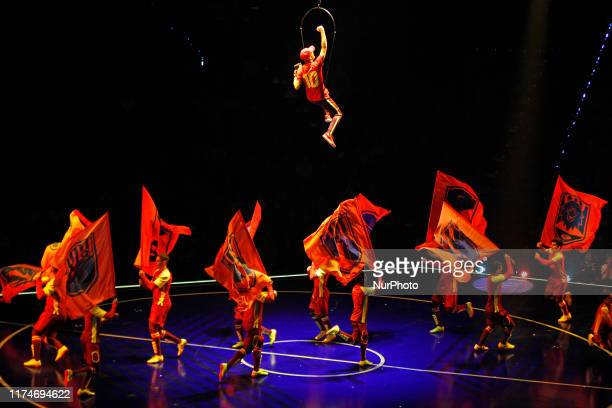 Rehearsal of the show of the Cirque du Soleil Messi10 on 08th October 2019 in Barcelona Spain