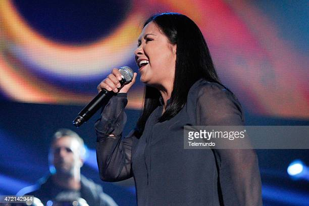 Ana Gabriel rehearses for the 2015 Billboard Latin Music Awards from Miami Florida at the BankUnited Center University of Miami on April 28 2015...