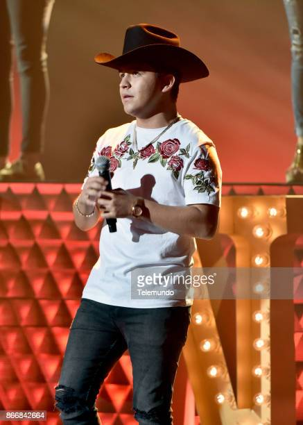 AWARDS Rehearsal Pictured Christian Nodal rehearses for the 2017 Latin American Music Awards at the Dolby Theater in Hollywood CA on October 23 2017