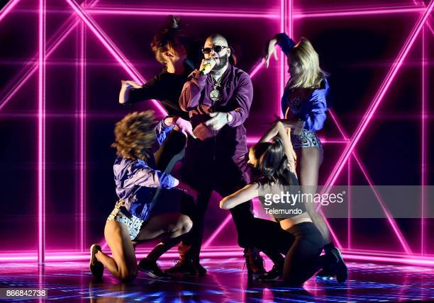 AWARDS 'Rehearsal' Pictured Farruko rehearses for the 2017 Latin American Music Awards at the Dolby Theater in Hollywood CA on October 23 2017