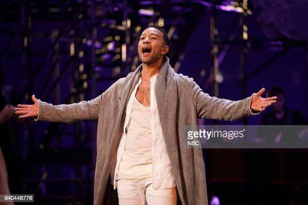 Rehearsal --Pictured: John Legend as Jesus --