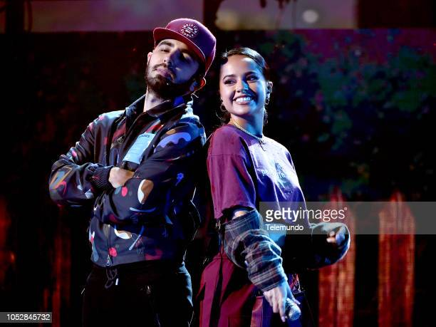 AWARDS Rehearsal Pictured Joss Favela and Becky G rehearse for the 2018 Latin American Music Awards at the Dolby Theater in Hollywood CA on October...