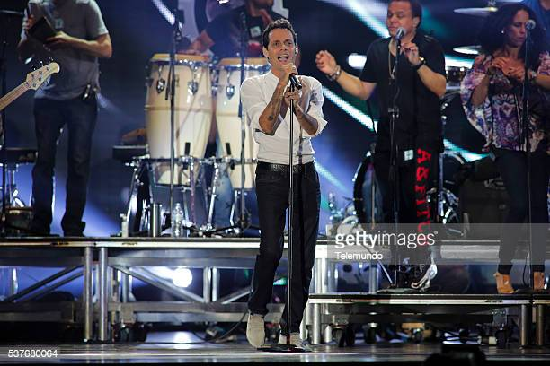 Marc Anthony rehearses for the 2014 Billboard Latin Music Awards from Miami Florida at the BankUnited Center University of Miami on April 23 2014...