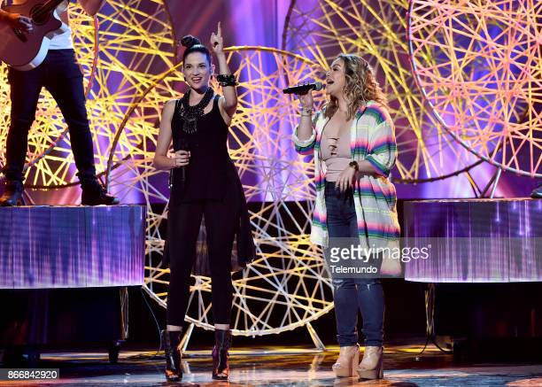 AWARDS 'Rehearsal' Pictured Natalia Jiménez and Chiquis rehearse for the 2017 Latin American Music Awards at the Dolby Theater in Hollywood CA on...