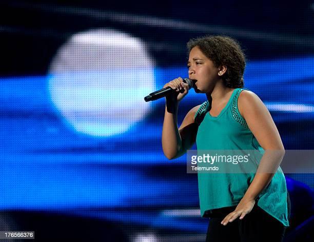 Paola Guanche rehearse for the 2013 Premios Tu Mundo from the American Airlines Arena in Miami Florida August 13 2013 PREMIOS TU MUNDO 2013 Ensayo...