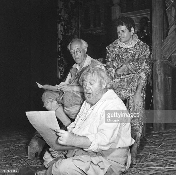 Rehearsals for 'A Midsummer Night's Dream' at the Shakespeare Memorial Theatre StratforduponAvon Pictured at the back left to right Quince Puck and...