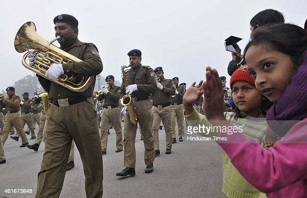 Rehearsals for the Republic Day is on full swing at Raj Path on January 17 2015 in New Delhi India Republic Day is celebrated every year on 26...