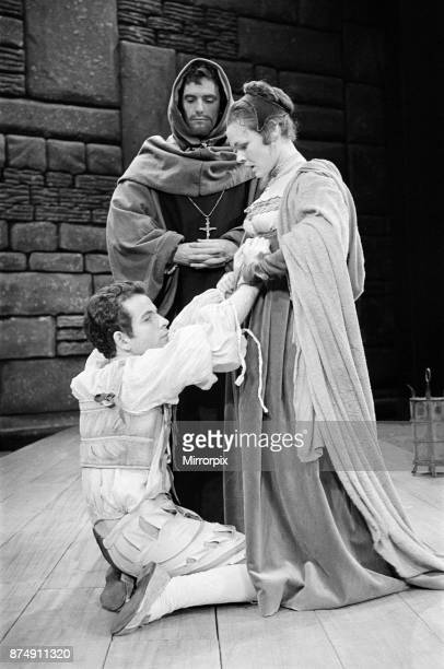Rehearsals for the William Shakespeare play 'Measure for Measure' at The Royal Shakespeare Theatre StratforduponAvon Pictured Isabella Duke and...